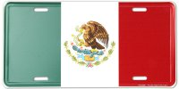Mexico Flag Metal License Plate