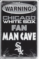 Chicago White Sox Man Cave Metal Parking Sign