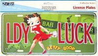 Betty Boop LDY LUCK License Plate
