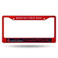 Boston Red Sox World Series 2018 Anodized Red Frame
