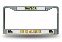Baylor Bears Chrome License Plate Frame