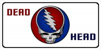 Dead Head Logo Photo License Plate
