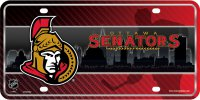Ottawa Senators Metal License Plate