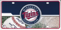 Minnesota Twins Metal License Plate