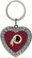 Washington Redskins Bling Rhinestone Heart Keychain