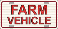 Farm Vehicle Metal License Plate