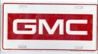 GMC on White License Plate