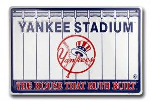 NEW York Yankee Stadium Metal Parking Sign