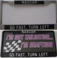 """NASCAR - Go Fast, Turn Left"" Custom Frame"