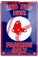 Boston Red Sox Fan Metal Parking Sign