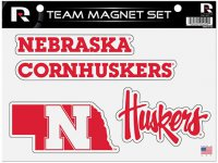 Nebraska Cornhuskers Team Magnet Set
