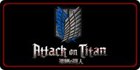 Attack on Titan Photo License Plate