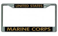 United States Marine Corps Chrome License Plate Frame