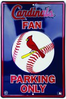 St. Louis Cardinals Fan Metal Parking Sign