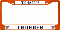 Oklahoma City Thunder Anodized Orange License Plate Frame