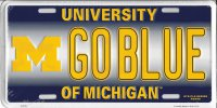 University Of Michigan GOBLUE Metal License Plate