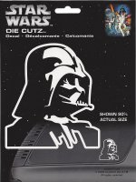 Star Wars Darth Vader White Die Cut Vinyl Decal