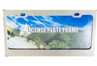 Blank Smooth Chrome 2 Hole License Plate Frame