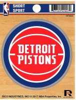 Detroit Pistons Short Sport Decal
