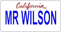 Design It Yourself California State Look-Alike Bicycle Plate