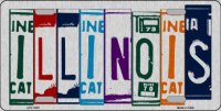 Illinois Cut Style Metal License Plate