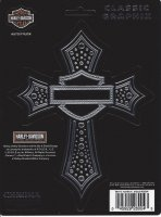 Harley-Davidson Chrome Cross Decal