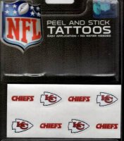 Kansas City Chiefs 8-PC Peel And Stick Tattoo Set