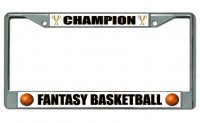Fantasy Basketball Champion Chrome License Plate Frame