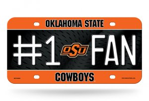 Oklahoma State Cowboys #1 Fan Metal License Plate