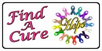 Find A Cure Multi Ribbon Photo License Plate
