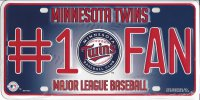 Minnesota Twins #1 Fan Metal License Plate