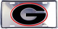 Georgia Bulldogs Anodized License Plate