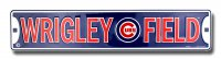 Wrigley Field Chicago Cubs Metal Street Sign
