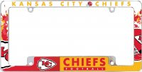 Kansas City Chiefs All Over Chrome License Plate Frame