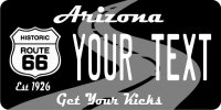Arizona Route 66 Personalized Photo License Plate