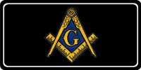 Masonic Patch Photo License Plate
