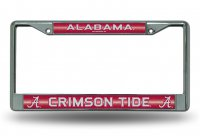 Alabama Crimson Tide Glitter Chrome License Plate Frame
