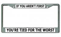Aren't First … Tied For The Worst Chrome License Plate Frame
