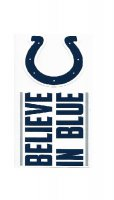 Indianapolis Colts Double Up Die Cut Vinyl Stickers