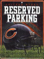 Chicago Bears Metal Reserved Parking Sign