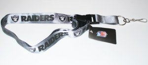 Oakland Raiders Lanyard With Safety Latch