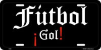 Fútbol Go! License Plate