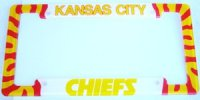 Kansas City Chiefs Acrylic License Frame