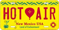 New Mexico Hot Air Balloon Metal License Plate