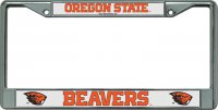 Oregon State Beavers Chrome License Plate Frame