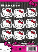 Hello Kitty Emoji Stick Onz Decal Set