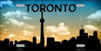 Toronto Skyline Silhouette License Plate