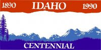 Design It Yourself Idaho State Look-Alike Bicycle Plate #2