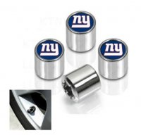 New York Giants Chrome Valve Stem Caps