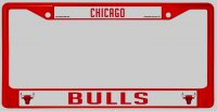 Chicago Bulls Anodized Red License Plate Frame